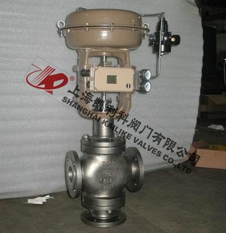 资讯 自动化控制/仪器仪表/电气  zjhq气动薄膜三通调节阀是由多弹簧图片