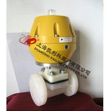 PVDF气动隔膜阀、PVDF气动塑料隔膜阀